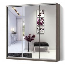 Шкаф-Купе трехдверный Стандарт 240/60/240 Зеркало+Зеркало-МатроЛюкс