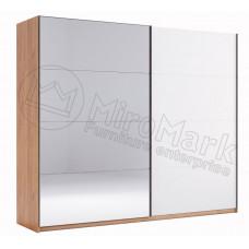 Шкаф-Купе 2.5 Ники(Ncky)белый\зеркало-МироМарк