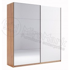 Шкаф-Купе 2.0 Ники(Ncky)белый\зеркало-МироМарк