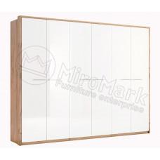 Шкаф 6Д Ники(Ncky)белый-МироМарк