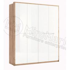 Шкаф 4Д Ники(Ncky)белый-МироМарк