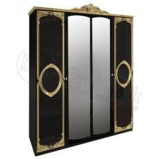 Шкаф 4Д Regina Black Gold - МироМарк