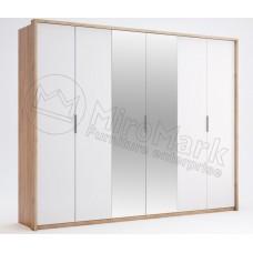 Шкаф 6ДВ Асти(Asti) с зеркалом-МироМарк