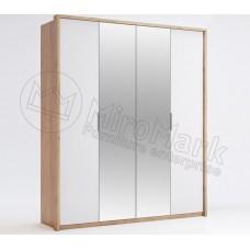 Шкаф 4ДВ Асти(Asti) с зеркалом-МироМарк