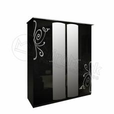 Шкаф 4дв Богема(Bogema)с зеркалом-МироМарк