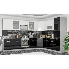 Кухня Кармен (Черно-Белый) Мебель Сервис