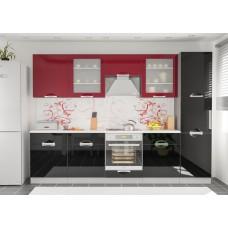 Кухня Кармен (Черно-Красный) Мебель Сервис