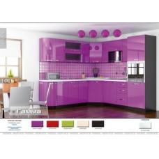 Кухня Гамма (фиолет) Мебель Сервис