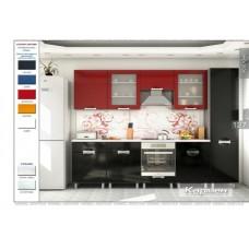 Кухня Кармен (черно-красный)
