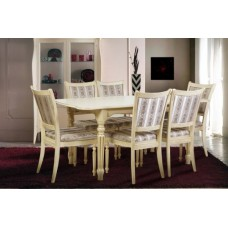 Стол Венеция 120 + Стул Сицилия (слоновая кость) серия Палермо - Микс Мебель