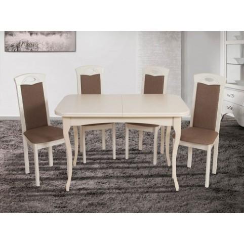 Стол Мартин (раскладной) белый, беж + стулья Честер серия Ультра - Микс Мебель