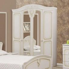 Шкаф 4Д Луиза(Белое Золото)-Свит Меблив