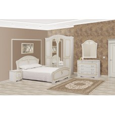 Спальня Луиза 5Д(белое золото)-Свiт Меблiв